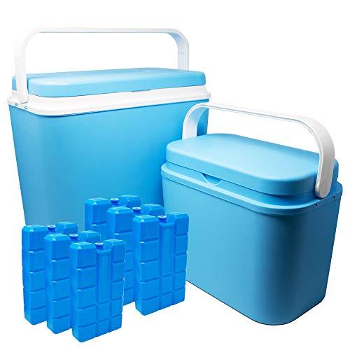 ToCi 2er Set Kühlboxen | Passive Kühl-Box mit 10 Liter und 24 Liter | Camping...