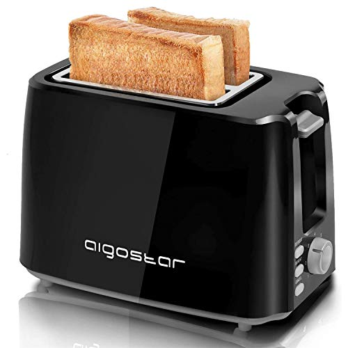 Aigostar Toaster,7 Einstellbare Bräunungsstufe + Auftau- & Aufwärmfunktion,2 Breite...