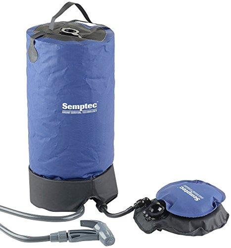 Semptec Urban Survival Technology Solardusche: Tragbare Druck-Campingdusche mit Fußpumpe, 11 Liter...