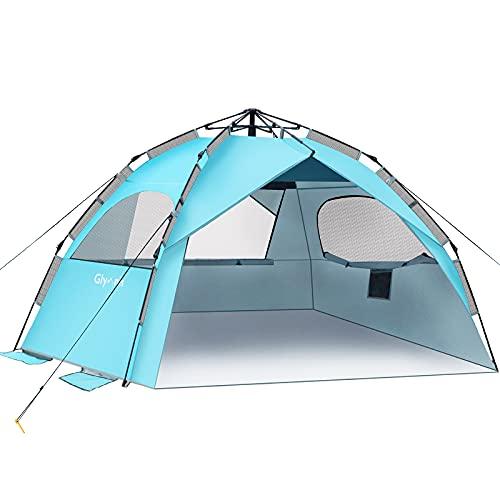 Glymnis Strandmuschel Quick Up Strandzelt Automatisches Strand Zelt UV-Schutz 50+...