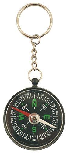 Unbekannt Générique 1900Schlüsselanhänger Kompass Aluminium/Kunststoff schwarz 10x...