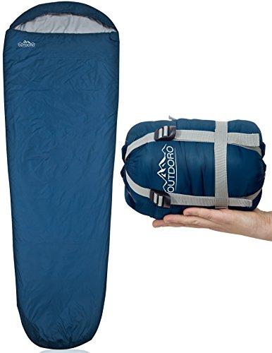 Outdoro ultraleichter Schlafsack 800g - kleines Packmaß - leicht, dünn und warm - Idealer Sommerschlafsack,...