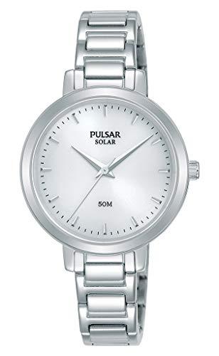 Pulsar Solar Damen-Uhr Edelstahl mit Metallband PY5069X1