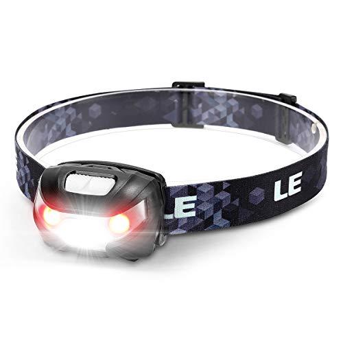LE Stirnlampe LED Wiederaufladbar, USB Kopflampe 1300 Lux mit Rotlicht& 5 Lichtmodi, IPX4...