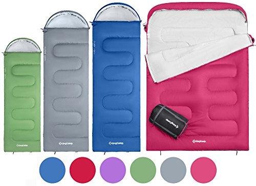 KingCamp Oasis Doppelschlafsack Deckenschlafsäcke mit Kopfteil für 2 Personen 3...