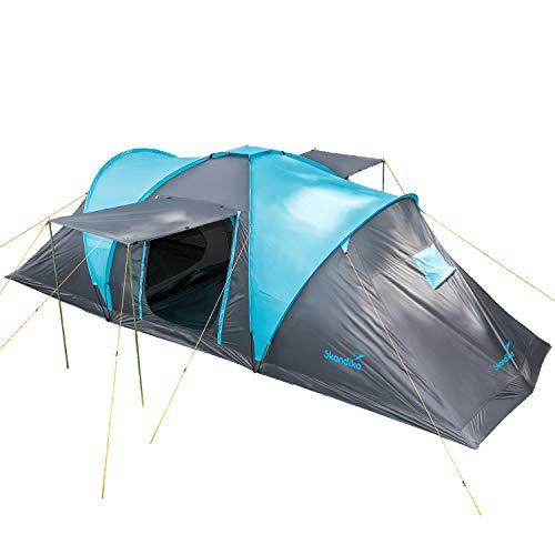 Skandika Kuppelzelt Hammerfest für 6 Personen | Campingzelt mit eingenähtem Zeltboden, 2...