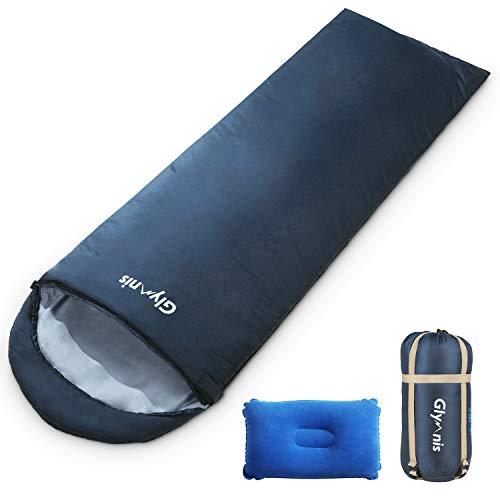 Glymnis Schlafsack Deckenschlafsack Ultraleicht klein warm Sommerschlafsack 210x75 cm für...
