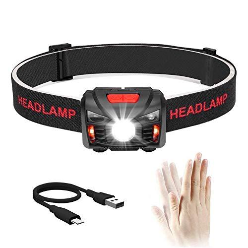 Winzwon USB Wiederaufladbare LED Stirnlampe Kopflampe, Sehr hell, Wasserdicht...