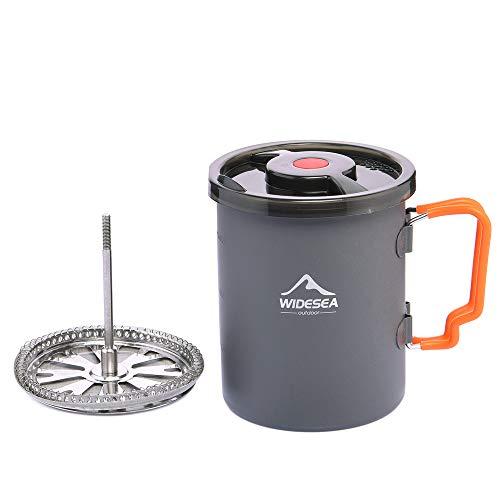 Widesea Camping Kaffeebereiter mit French Press Kaffeekanne 750 ML