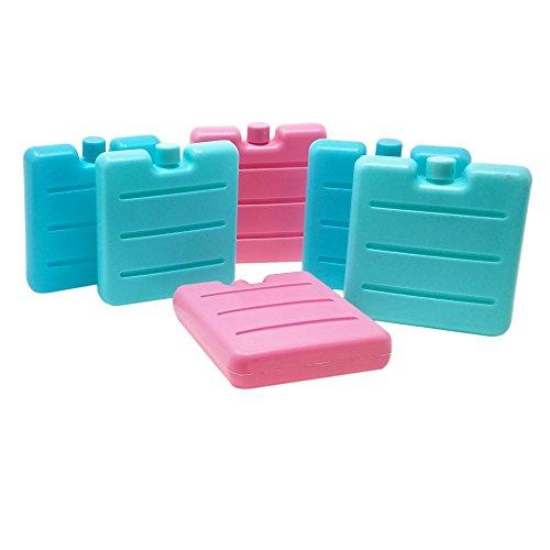 ToCi 6er Set Kleine Kühlakkus | Mini Kühl-Elemente für die Kühltasche | Kühl-Akku...