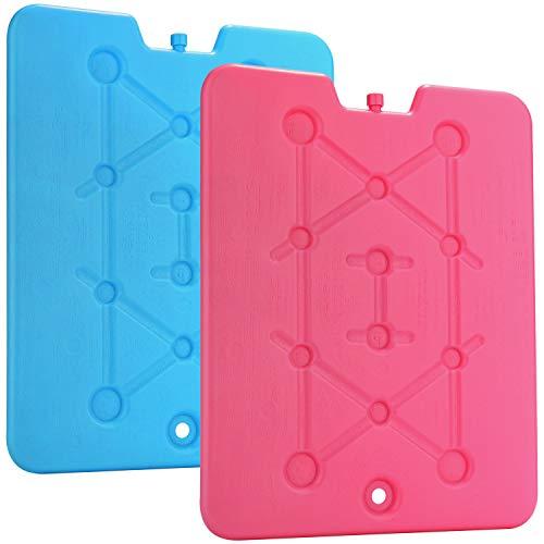 com-four® 2X Extra flaches Kühlakku - Platzsparend und ideal für Kühlbox und...