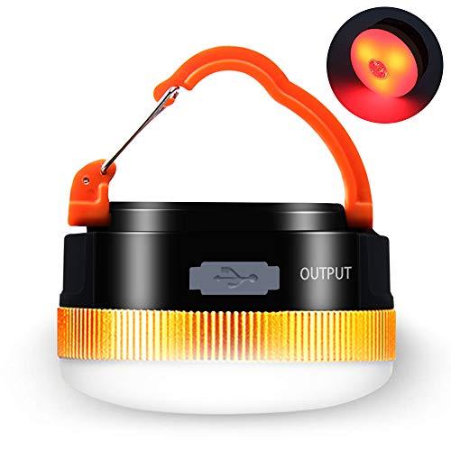 Karrong Campinglampe LED USB Wiederaufladbare, Mini Magnet Camping Laterne Campingleuchte, 4 Modi SOS...