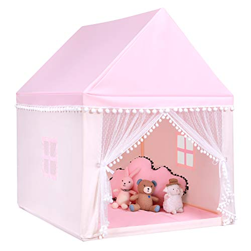 COSTWAY Kinderspielhaus Kinderzelt Spielhaus Prinzess Prinzessin, Kinderspielzelt...
