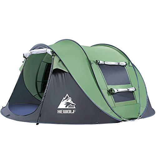 HEWOLF Wurfzelt 2-3 Personen Wasserdicht Pop Up Camping Zelt Automatik Ultraleichtes Familienzelt Sekundenzelt...