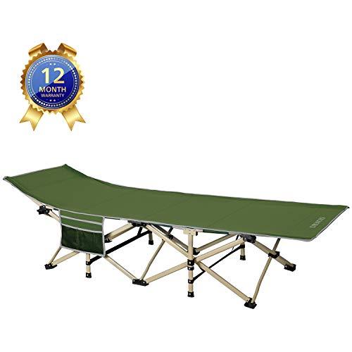 DRMOIS Camping Betten Feldbetten Klappbar, max Statische Belastbarkeit 260 kg Campingliege...