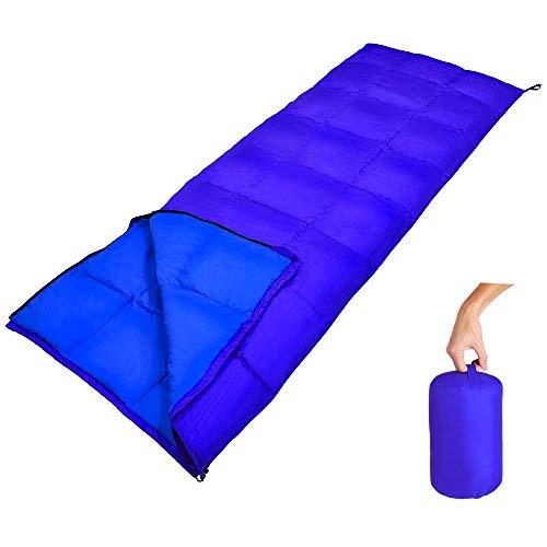 GEERTOP Daunenschlafsack Schlafsack Warm Leichtgewichtiger Komfort 10 C / 50 F mit tragbarem Sack für...