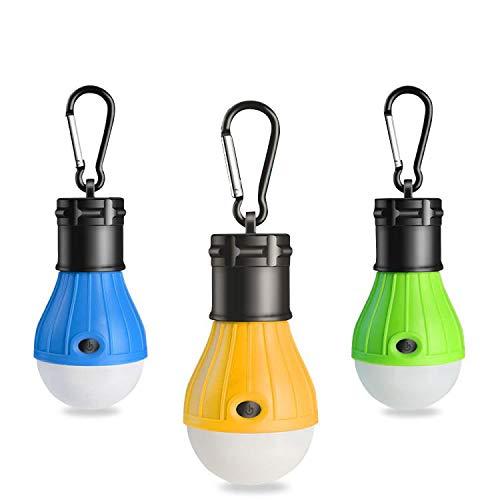 RISEMART 3 Stück Campinglampe mit Haken,LED Camping Laterne,Tragbare Zeltlampe Laterne Glühbirne...