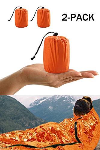 HONYAO Notfall Überleben Schlafsack, Survival Biwak Sack Erste Hilfe Rettungsdecken...