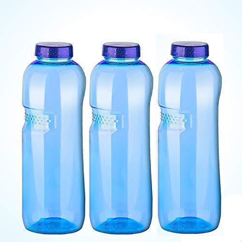 Trinkflasche 3 x 1 L Wasserflasche Tritan ohne Bisphenol-A (BPA frei)
