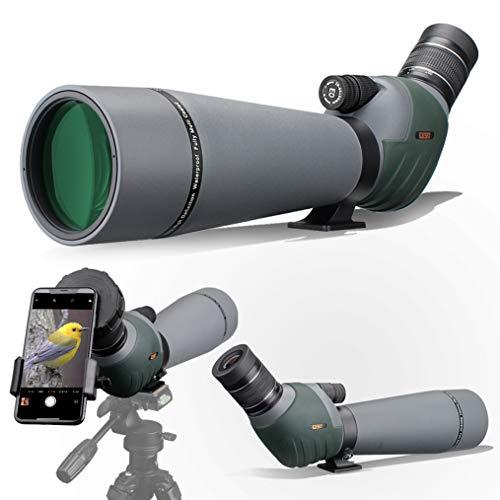 Gosky ED Spektiv mit Doppelter Fokussierung 20-60x 80mm mit Smartphone-Adapter, Spektive...