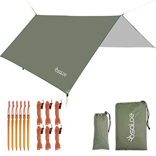 Osaloe Zeltplane, 3m x 3m Tarp für Hängematte Wasserdicht Sonnenschutz Zelt Tarp für...