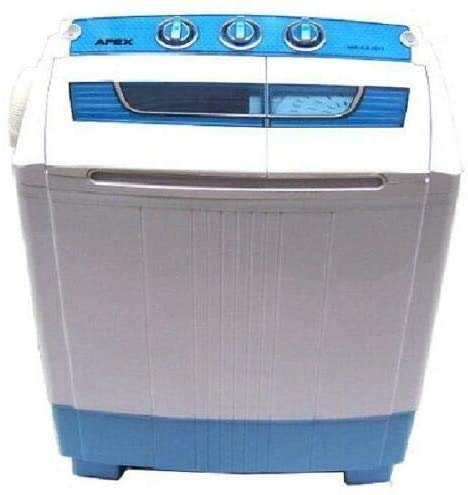 D+L GmbH Mini Waschmaschine 5.2kg Miniwaschmaschine + Schleuder, Camping, mit Pumpe, Toplader, 2in1...
