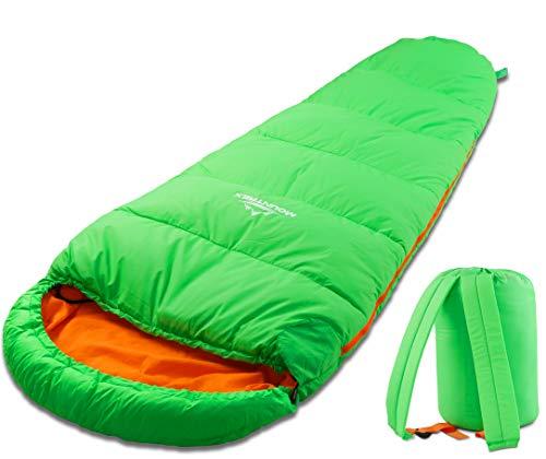 MOUNTREX Kinderschlafsack - Tragbar wie EIN Rucksack - Schlafsack für Kinder (175 x 70 x...
