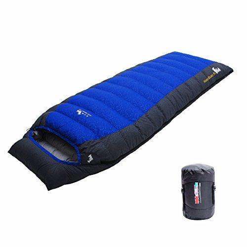 LMR Outdoor Daunenschlafsäcke Ultralight Deckenschlafsäcke für camping mit Kompression...