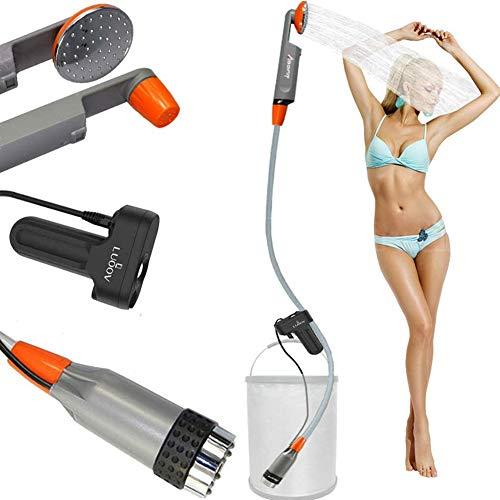 Zooma Tragbare Duschen Camping Dusche, Campingdusche mit Tauchpumpe, Tragbar Outdoor Dusche Wasserpumpe für...