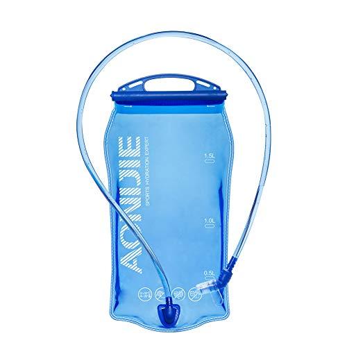 AONIJIE Faltbare 1L/ 1.5L/ 2L/3L Trinkblasen Wasserbeutel PEVA Hydratation Blasen für...