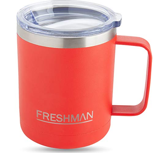 FRESHMAN aryo | 350ml Thermobecher mit Deckel Coffee to go Becher Thermo Kaffeebecher für...