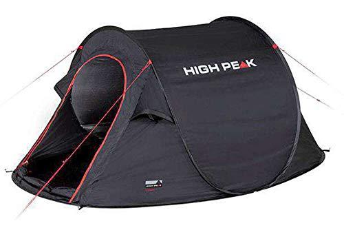 High Peak Wurfzelt Vision 2, Pop Up Zelt für 2 Personen, Festivalzelt freistehend, super...