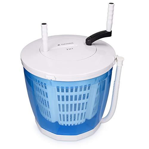 Navaris 2in1 Mini Waschmaschine und Wäscheschleuder - Camping Waschautomat bis 2kg -...