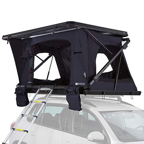 Qeedo Freedom Fast Hartschalen Dachzelt für 2 Personen (221 x 155 x 25cm), Autodachzelt...