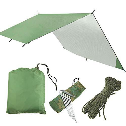 SZSMD Camping Zeltplane, Tarp für Hängematte, Wasserdicht, Leicht, Kompakt Zeltunterlage...