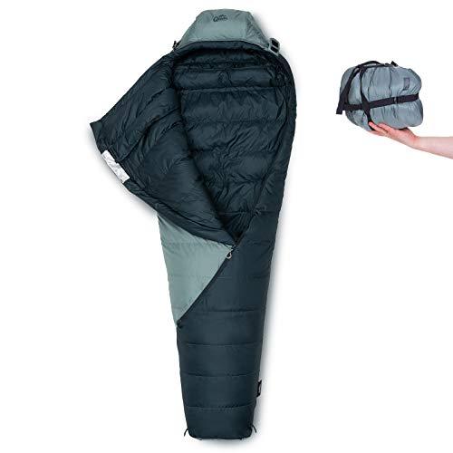 Qeedo Takino Daunenschlafsack, 4 Saison, warm, klein & leicht - grau [large]