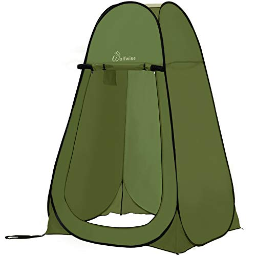 WolfWise Pop up Toilettenzelt Umkleidezelt, Camping Duschzelt Outdoor Mobile Toilette...