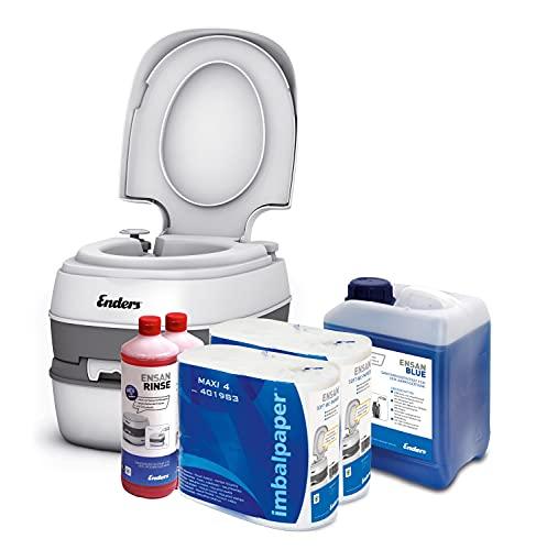 Enders Campingtoilette Starter-Set Blue 5,0 Liter Comfort 4946 inkl. Sanitärflüssigkeit...
