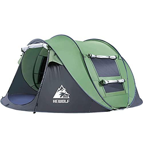 HEWOLF Wurfzelt 2-3 Personen Wasserdicht Pop Up Camping Zelt Automatik Ultraleichtes...