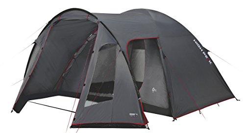 High Peak Kuppelzelt Tessin 5, Campingzelt mit Vorbau, 2 Eingänge, Familien-Zelt für 5...