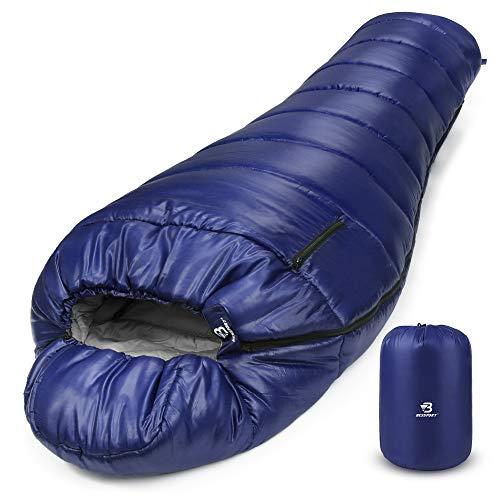Bessport Schlafsack Winter   -9°C und 0℃ Outdoor Mumienschlafsack für Camping und...