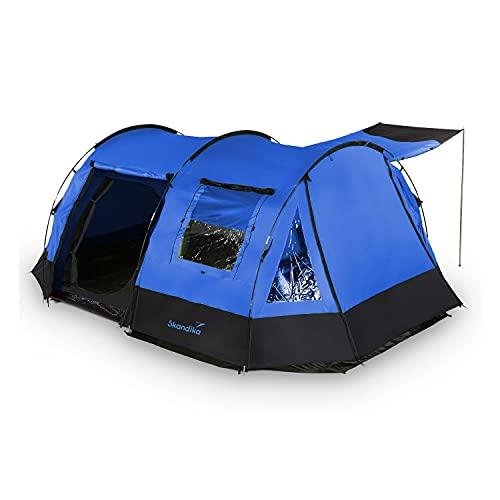 skandika Kambo Tunnelzelt für 4 Personen | Zelt mit Schlafkabine für 4 Mann, Wasserdicht...