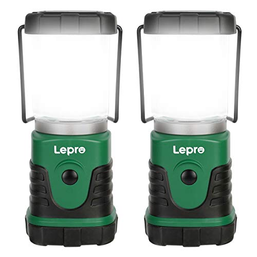 Lepro LED Campinglampe, Mini Camping Laterne, 350LM, 4 Lichtmodi, 3 AA Batterie...