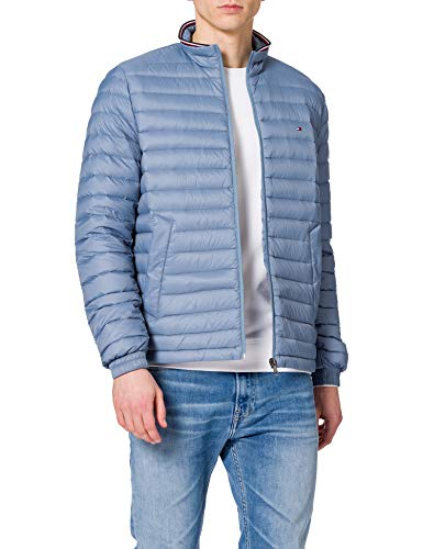 Tommy Hilfiger Herren Packable DOWN Jacket Jacke, Colorado Indigo, L