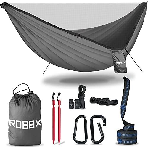 ROBBX® Hängematte Outdoor mit Moskitonetz für 2 Personen   300kg Traglast  ...
