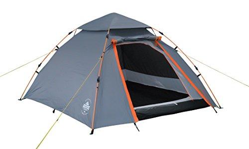 Lumaland Outdoor Pop Up Kuppelzelt Wurfzelt 3 Personen Zelt Camping Festival etc. 215 x...