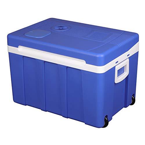 WOLTU KUE003bl Kühlbox, Tragbarer Mini Kühlschrank, 50 Liter Isolierbox zum Warmhalten,...
