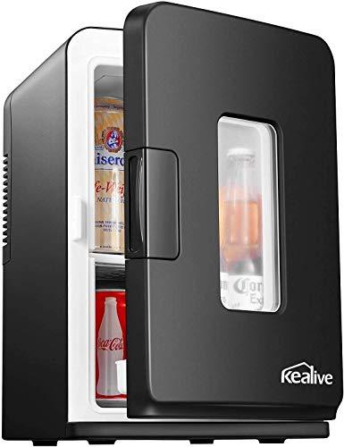 Mini Kühlschrank 15 Liter Tragbare Kühlschränke mit Kühl- und Heizfunktion, 220 V AC/ 12 V DC für Auto...