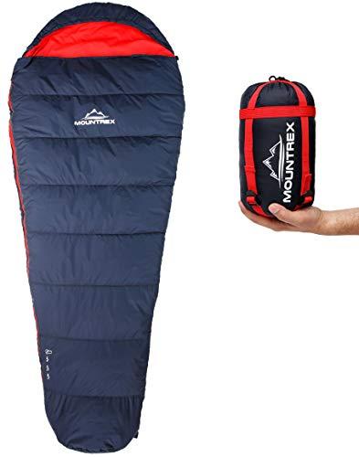 MOUNTREX® Schlafsack - Kleines Packmaß & Ultraleicht (720g) - Outdoor Sommer Schlafsack,...