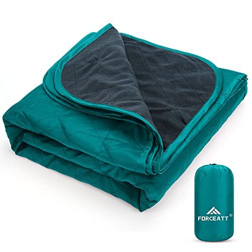 Forceatt Picknickdecke Outdoor 200 * 140, Ultraleicht Hydrophobizität Camping Decke, Sanft Reißfestigkeit...